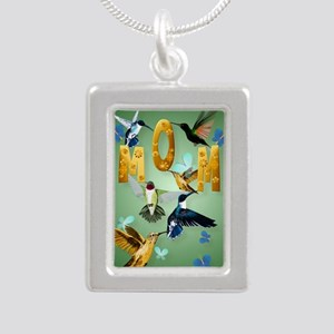 MOM-For to the birds Silver Portrait Necklace