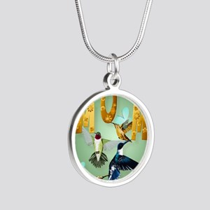 MOM-For to the birds Silver Round Necklace