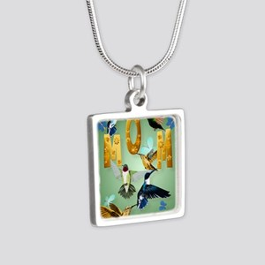 MOM-For to the birds Silver Square Necklace
