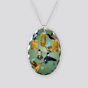 MOM-For to the birds Necklace Oval Charm