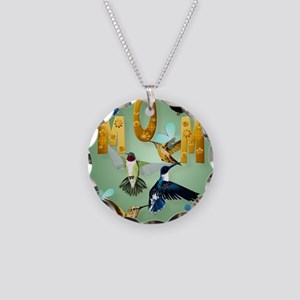 MOM-For to the birds Necklace Circle Charm