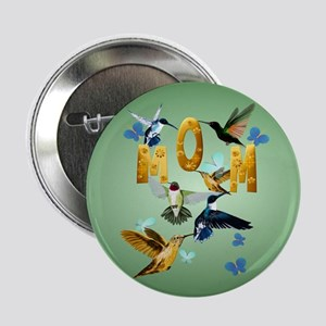 "Circle MOM-For to the birds 2.25"" Button"