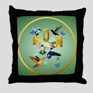 Circle MOM-For to the birds Throw Pillow