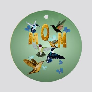 Circle MOM-For to the birds Round Ornament