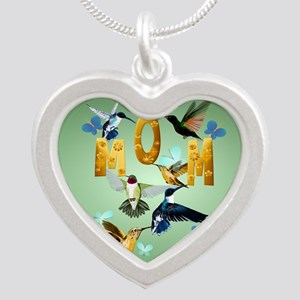 Circle MOM-For to the birds Silver Heart Necklace