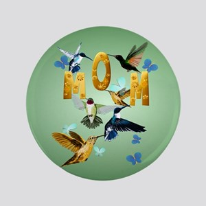 """Circle MOM-For to the birds 3.5"""" Button"""