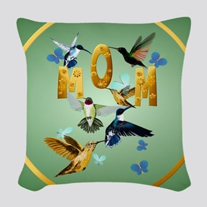 Circle MOM-For to the birds Woven Throw Pillow