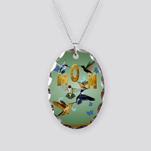 Circle MOM-For to the birds Necklace Oval Charm