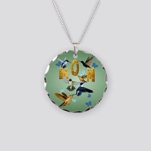 Circle MOM-For to the birds Necklace Circle Charm