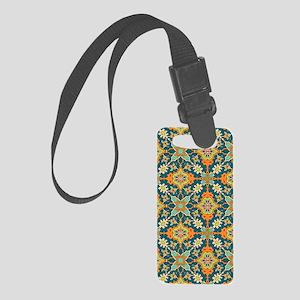 Elegant Aqua and Orange Phone Ca Small Luggage Tag