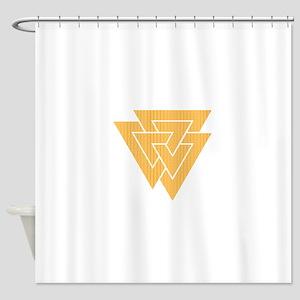Valknut Symbol Shower Curtain