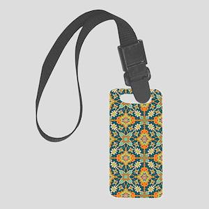 Elegant Aqua and Orange Small Luggage Tag