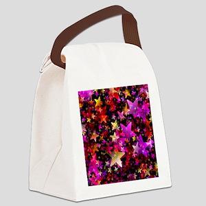 Rainbow Stars Canvas Lunch Bag