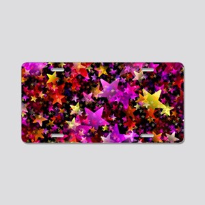 Rainbow Stars Aluminum License Plate