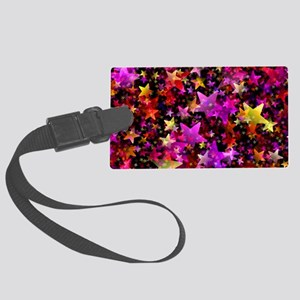 Rainbow Stars Large Luggage Tag