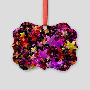 Rainbow Stars Picture Ornament