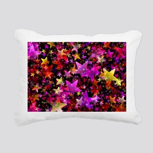 Rainbow Stars Rectangular Canvas Pillow