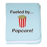 Fueled by Popcorn baby blanket