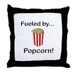 Fueled by Popcorn Throw Pillow