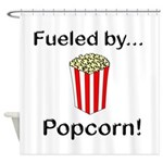 Fueled by Popcorn Shower Curtain