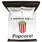 Fueled by Popcorn King Duvet