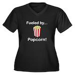 Fueled by Po Women's Plus Size V-Neck Dark T-Shirt