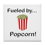 Fueled by Popcorn Tile Coaster