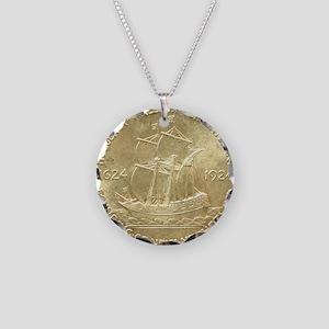 Huguenot-Walloon Half Dollar Necklace Circle Charm