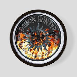 Demon hunter protection Symbal Ring Pat Wall Clock