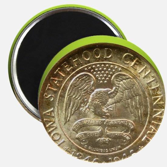 Iowa Centennial Half Dollar Coin  Magnet