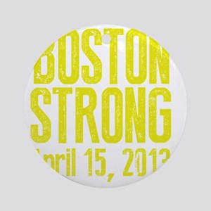 Boston Strong - Yellow Round Ornament