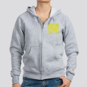 Boston Strong - Yellow Women's Zip Hoodie