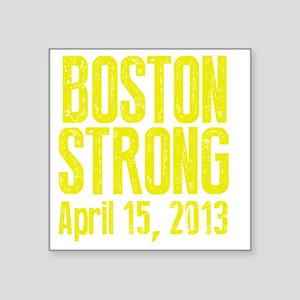 "Boston Strong - Yellow Square Sticker 3"" x 3"""