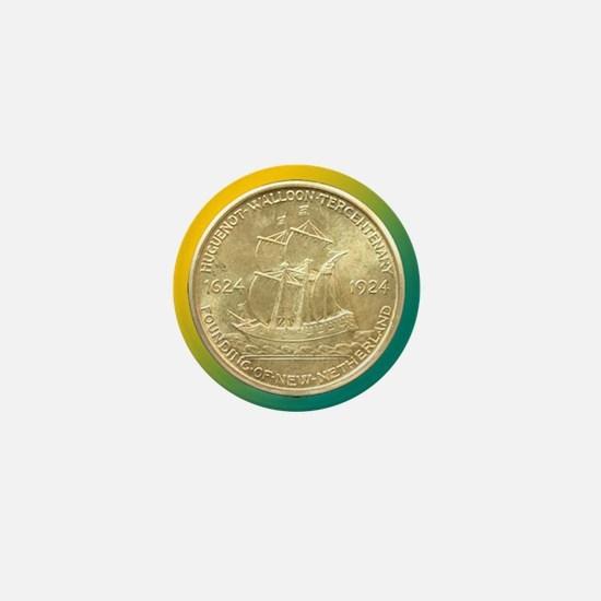 Huguenot-Walloon Half Dollar Coin  Mini Button