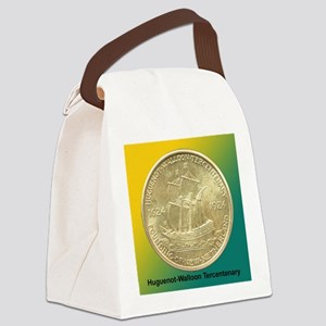 Huguenot-Walloon Half Dollar Coin Canvas Lunch Bag