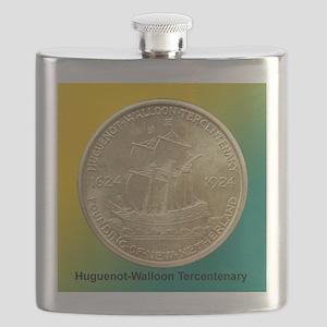 Huguenot-Walloon Half Dollar Coin  Flask