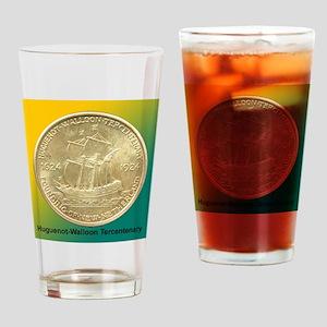 Huguenot-Walloon Half Dollar Coin  Drinking Glass