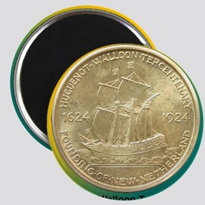 Huguenot-Walloon Half Dollar Coin  Magnet