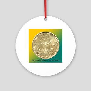 Huguenot-Walloon Half Dollar Coin  Round Ornament