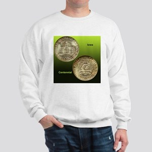 Iowa Centennial Half Dollar Coin  Sweatshirt