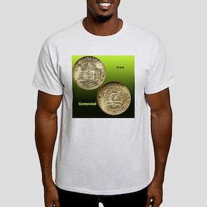 Iowa Centennial Half Dollar Coin  Light T-Shirt