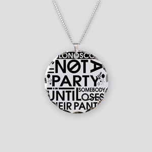 Colonoscopy- Its Not A Party Necklace Circle Charm