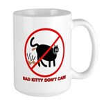 Bad Kitty Large Coffee Mug