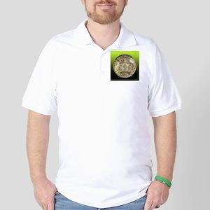 Iowa Centennial Half Dollar Coin  Golf Shirt