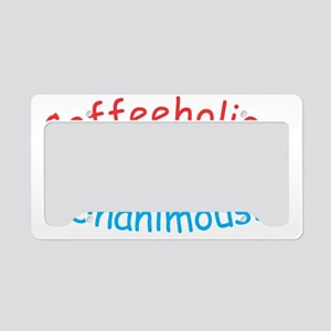 Coffeeholics Unamous! Logo License Plate Holder