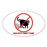 Bad Kitty Oval Sticker