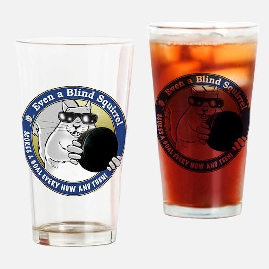Hockey Blind Squirrel Drinking Glass