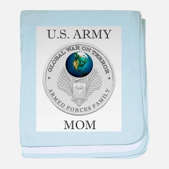 Army Mom Christmas baby blanket