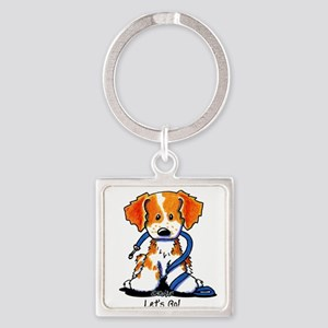 French Brittany Let's Go! Square Keychain