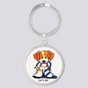 French Brittany Let's Go! Round Keychain